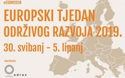 Otvorene prijave za Europski tjedan održivog razvoja 2019.!
