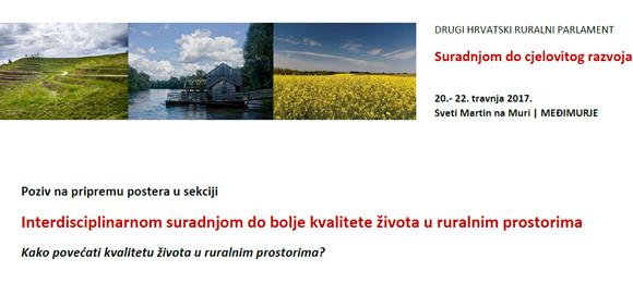 Poziv na pripremu postera: Interdisciplinarnom suradnjom do bolje kvalitete života u ruralnim prostorima
