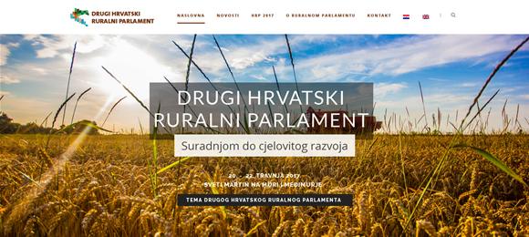 Mrežna stranica Hrvatskog ruralnog parlamenta