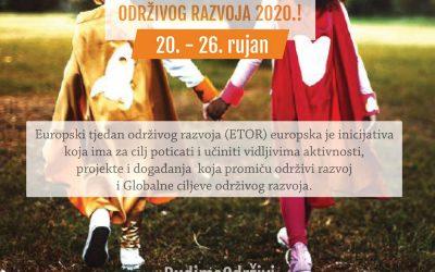 SUDJELUJTE U EUROPSKOM TJEDNU ODRŽIVOG RAZVOJA 2020.!