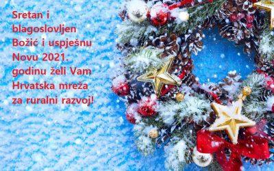 Sretan i blagoslovljen Božić i uspješnu Novu 2021. godinu!