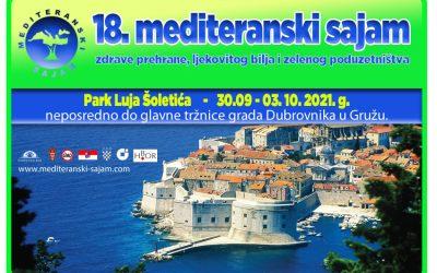 """""""18. Mediteranski sajam zdrave prehrane, ljekovitog bilja i zelenog poduzetništva"""""""